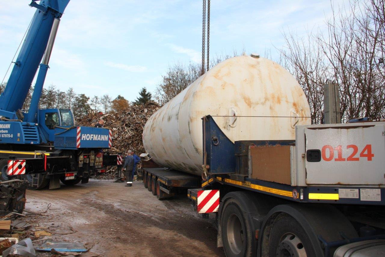 Stickstofftank Entsorgung